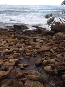 Across rocks to the sea