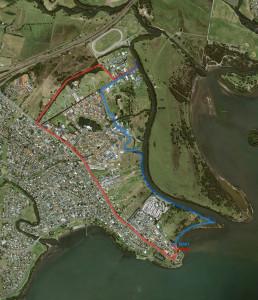 Google aerial view of Mullet Creek, Illawarra