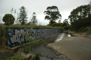 channel and graffiti